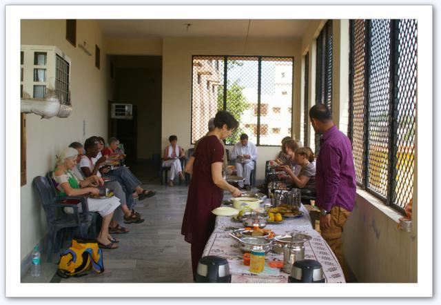Nos repas à la guest house de Haridwar