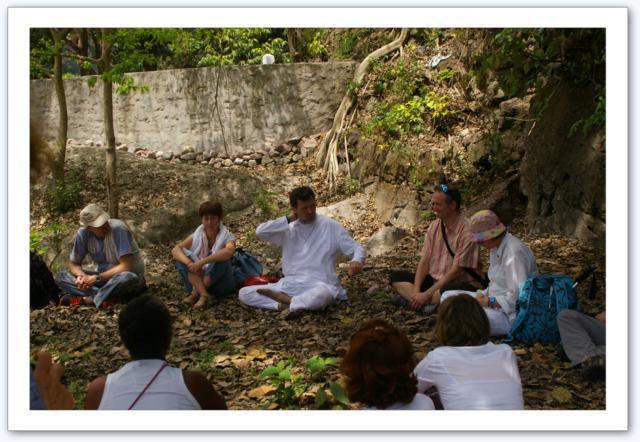 Pique nique au bord du Gange