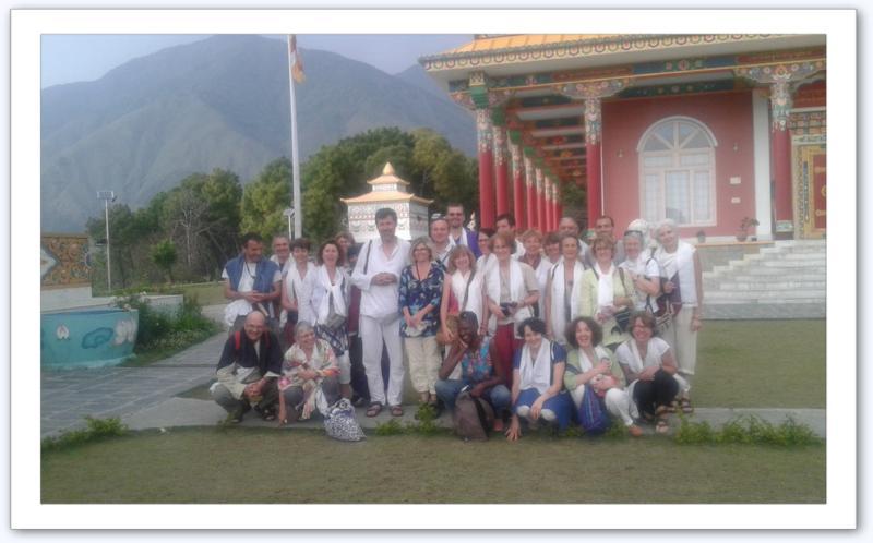 Photo du groupe en Inde, avril 2015